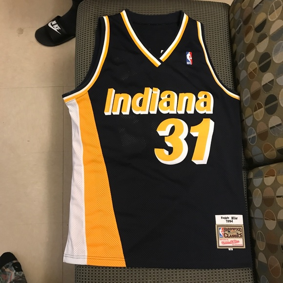 new concept cee36 5f62a Reggie Miller Indiana Pacers Throwback Jersey